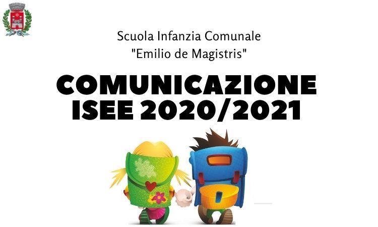 Scuola infanzia comunicazione ISEE