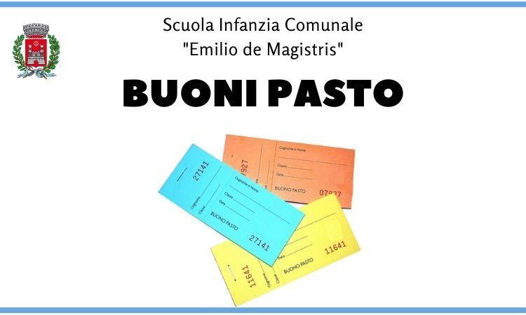 Scuola Infanzia - De Magistris - Vendita buoni pasto (Immagine rappresentativa)